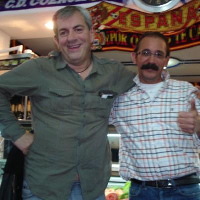 Con nuestro amigo Carlos Sobera